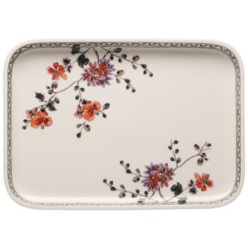 Artesano Provencal Verdure Baking Dishes Rectangular Serving Plate/Lid 14 in