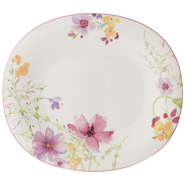 Mariefleur Oval Dinner Plate 11 1/2 in, , large