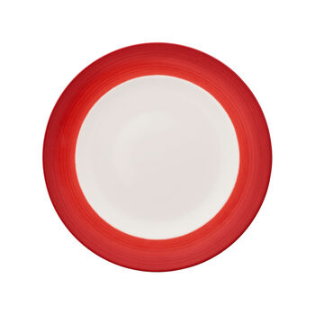 Colorful Life Deep Red Dinner Plate 10 1/2 in