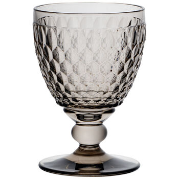 Boston Colored Goblet-Smoke : Set of 4 14 oz