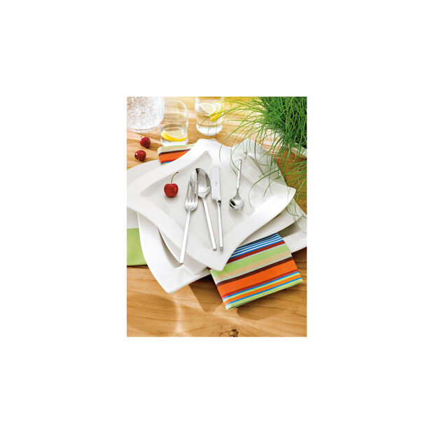 New Wave Flatware 64 Piece Set, , large