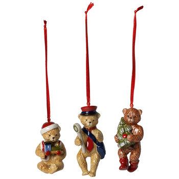 Nostalgic Ornaments Christmas Teddy Bears : Set of 3