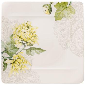 Quinsai Garden Square Dinner Plate : Chrysanthemum 10.5 in