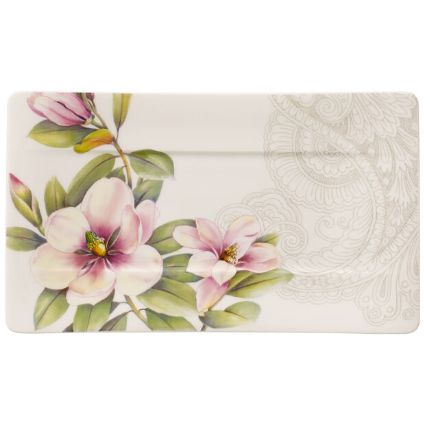 Quinsai Garden Small Serving Plate 9.5x5.5 in, , large