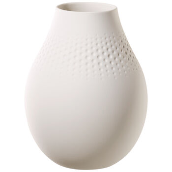 Manufacture Collier blanc Tall Vase : Perle 6.25 in