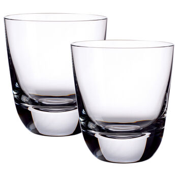 American Bar - Straight Bourbon Double Old-Fashioned Glasses, Set of 2 4 1/2 in