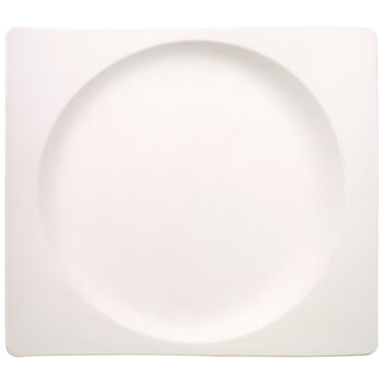 New Wave Rectangle Dinner Plate 11 1/4 x 12 1/2 in
