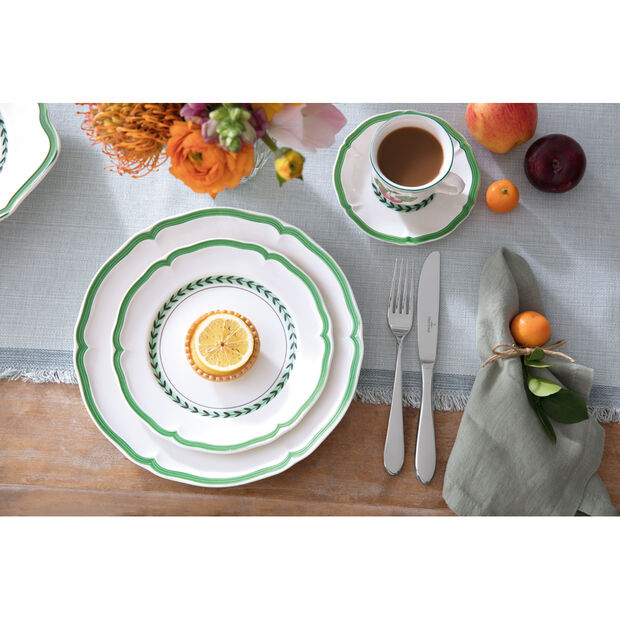 French Garden Green Line Espresso Cup Saucer 5 in, , large