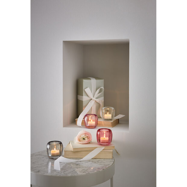 Coloured Delight  Small Tealight Holder : Cosy Grey 2.75 in, , large