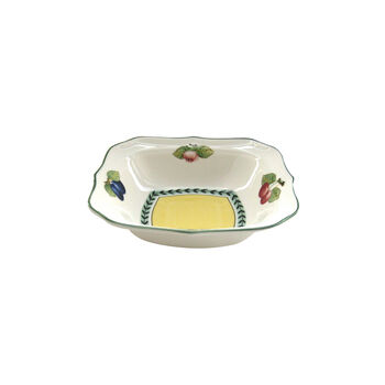 French Garden Fleurence Square Individual Salad Bowl 8 3/4 in