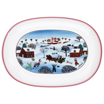 Design Naif Christmas Appetizer Dish, 7.75 Inches