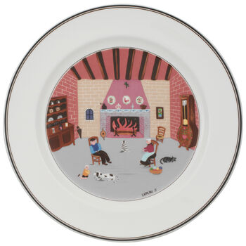 Design Naif Dinner Plate #5 - By The Fireside 10 1/2 in