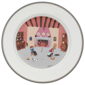 Design Naif Salad Plate #5 - By Fireside 8 1/4 in