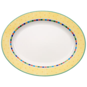 Twist Alea Limone Oval Platter 16 1/2 in