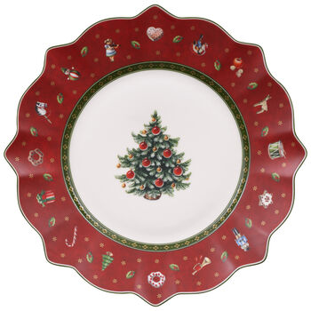 Toy's Delight Salad Plate, Red
