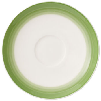 Colorful Life Green Apple Espresso Cup Saucer 4.75 in