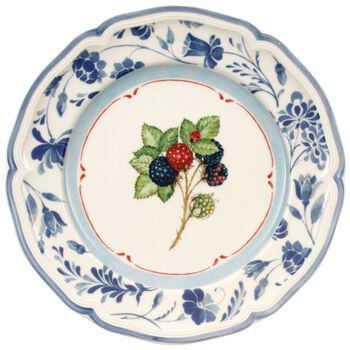 Cottage Blue Stencil Salad Plate 8 1/4 in
