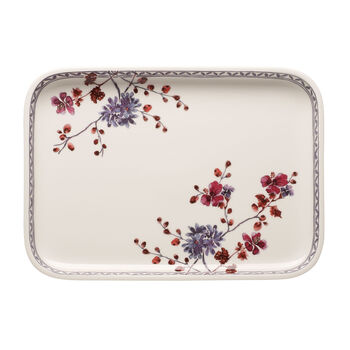 Artesano Provencal Lavender Baking Rectangular Serving Plate/Lid 14 in