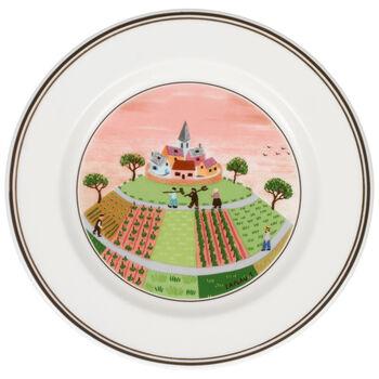 Design Naif Appetizer/Dessert Plate #1 - Farmers Vil 6 3/4 in