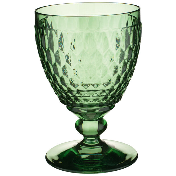 Boston Colored Claret Glass, Green 11 oz, , large