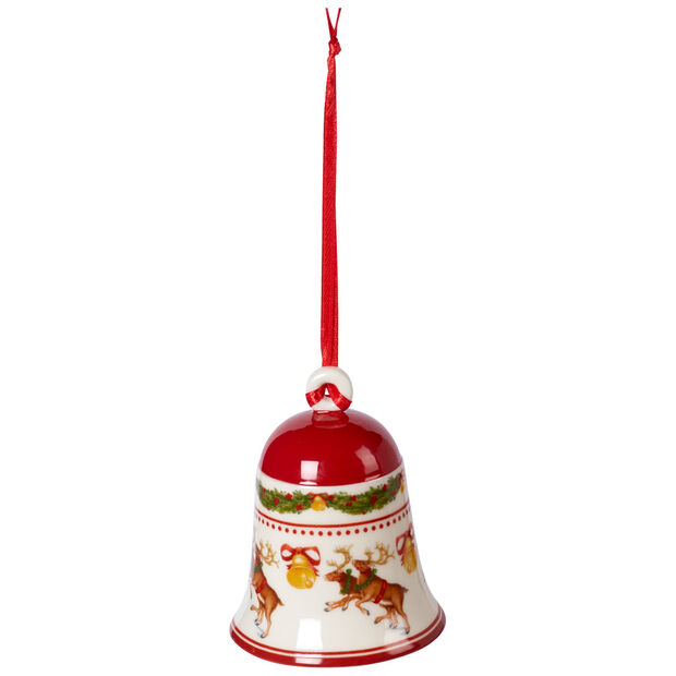 My Christmas Tree Ornament Bell : with Reindeer Figurine 2x2x2.75 in, , large
