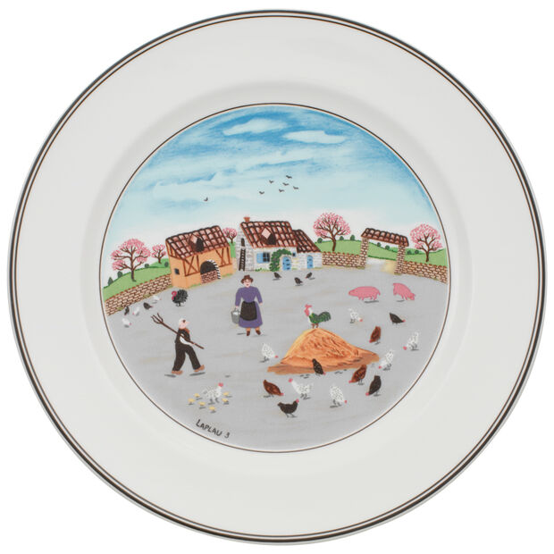 Design Naif Dinner Plate #3 - Country Yard 10 1/2 in, , large