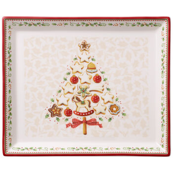 Winter Bakery Delight Small Cake Plate 10.5x9 in