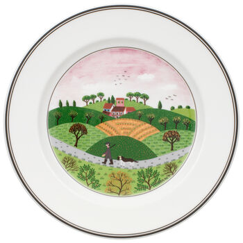Design Naif Salad Plate #6 - Hunter & Dog 8 1/4 in