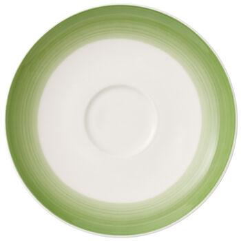 Colorful Life Green Apple Tea/Coffee Cup Saucer