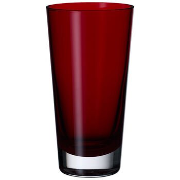 Colour Concept Highball Glass, Red 6 1/4 in
