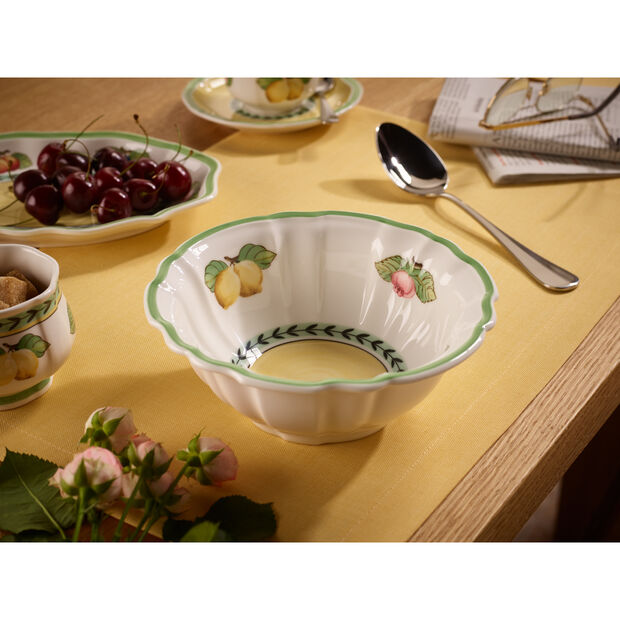 French Garden Fleurence Fluted Rice Bowl 20 oz, , large