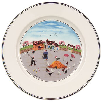 Design Naif Salad Plate #3 - Country Yard 8 1/4 in