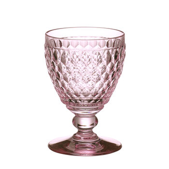 Boston Colored Goblet : Rose 14 oz