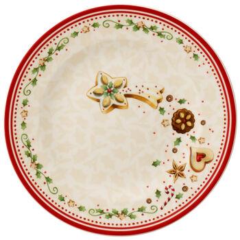 Winter Bakery Delight Salad Plate : Falling Star 8.5 in