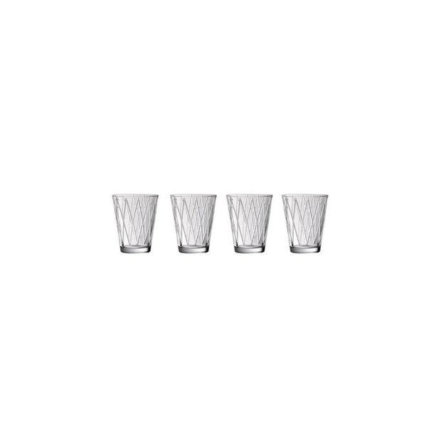 Dressed Up Crystal Glass Tumblers - Rhombus : Set of 4, , large