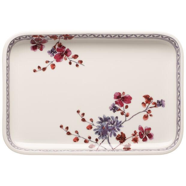 Artesano Provencal Lavender Baking Rectangular Serving Plate/Lid 12.5 in, , large