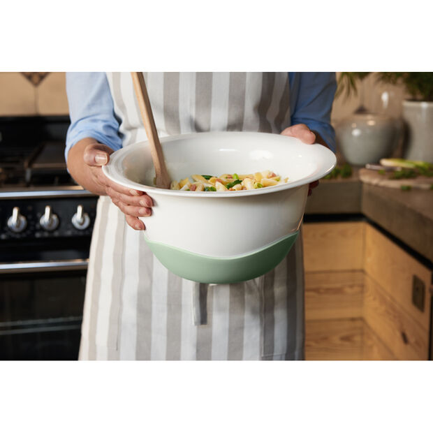 Clever Cooking Strainer/Serving Bowl : Green 11.5 in, , large
