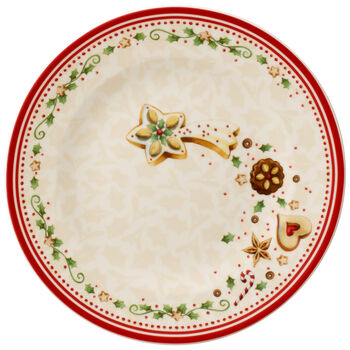 Winter Bakery Delight Salad Plate : Falling Star 8.5 in