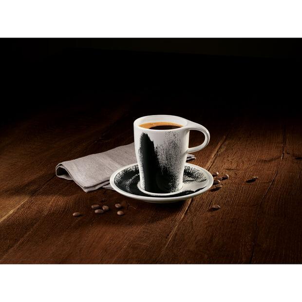 Coffee Passion Awake Coffee Mug & Saucer Set 12 oz, , large