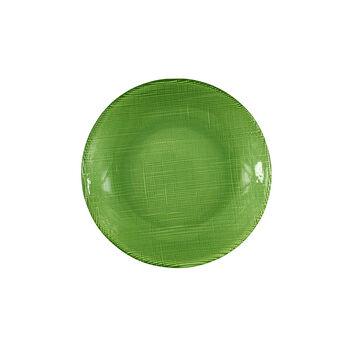 Verona Glass Salad Plate, Green