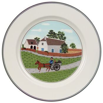 Design Naif Salad Plate #1 - Going To Market 8 1/4 in