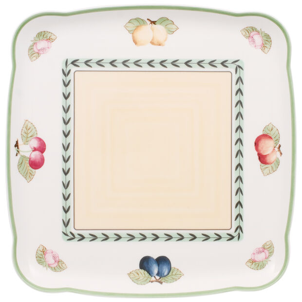 French Garden Charm Square Platter 11 3/4 in, , large
