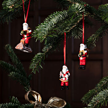 Nostalgic Ornaments Santa Claus Ornaments : Set of 3 3.5 in