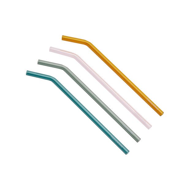 Artesano Hot Beverages 4 Glass Straws, , large