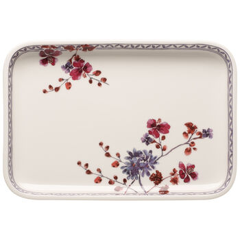 Artesano Provencal Lavender Baking Rectangular Serving Plate/Lid 12.5 in