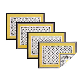 Elrene Audun Placemats:Set of 4 14 x 20 in
