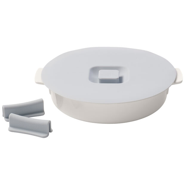 Clever Cooking Round Baker & Silicone Lid/Handles 9.5 in, , large