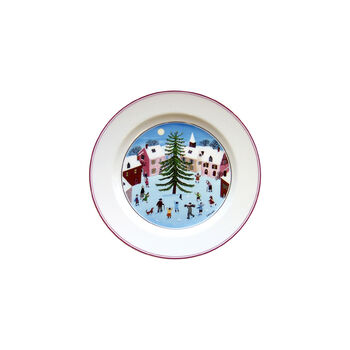 Design Naif Christmas Salad Plate, 8.25 Inches