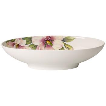 Quinsai Garden Oval Vegetable Bowl 11.75x7 in
