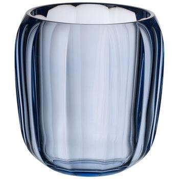 Coloured DeLight Hurricane Lamp/Small Vase : Winter Sky 6 in